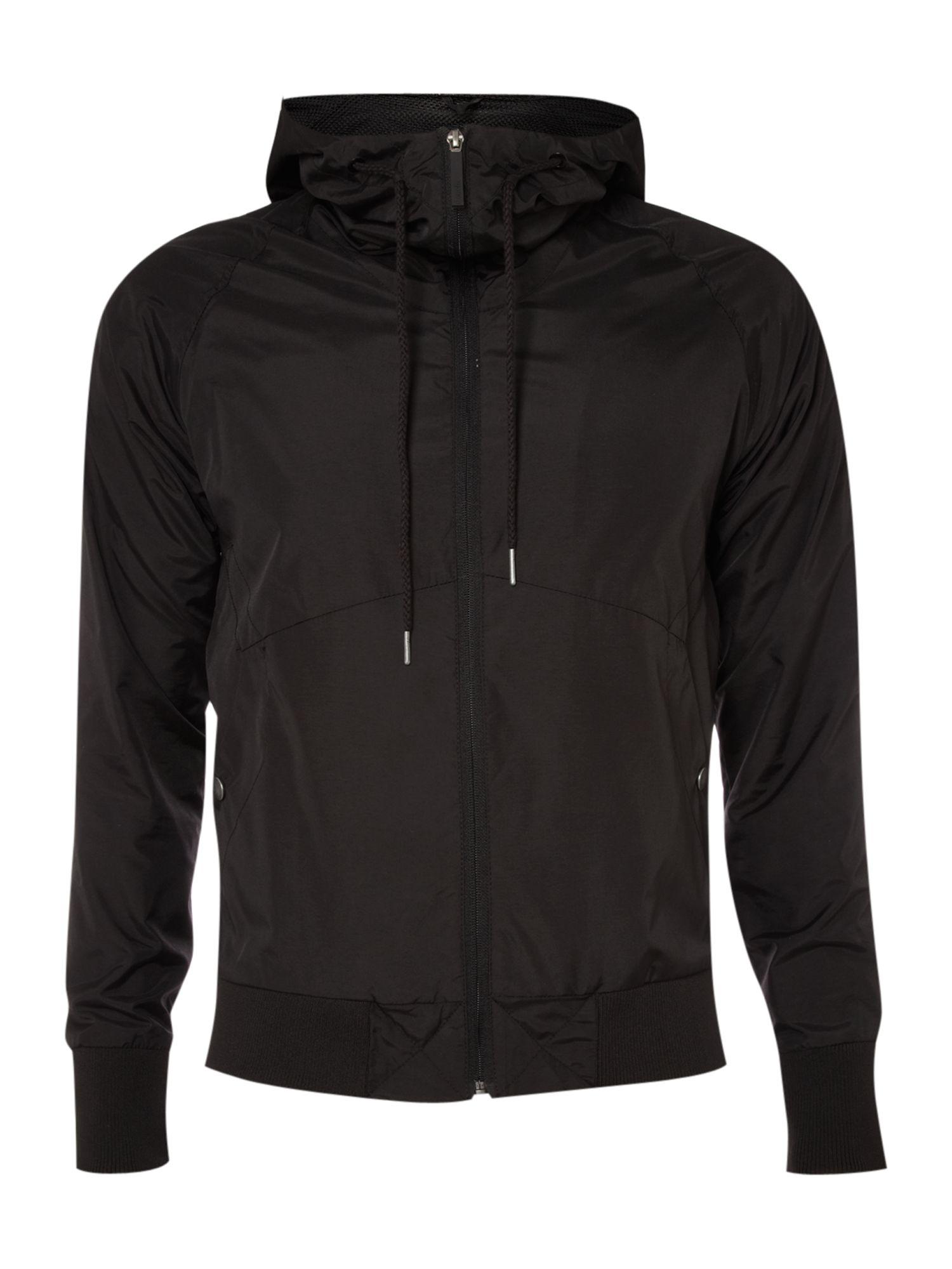 bench hooded zip through jacket in black for men lyst