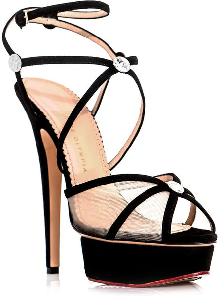 Charlotte Olympia Isadora Strappy Shoes in Black - Lyst