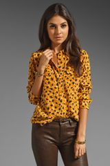 Equipment Slim Signature Double Leopard Print Blouse - Lyst