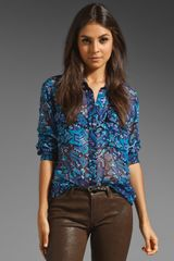 Equipment Signature Whimsical Carpet Print Blouse - Lyst