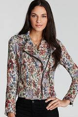 Free People  Floral Moto Jacket - Lyst