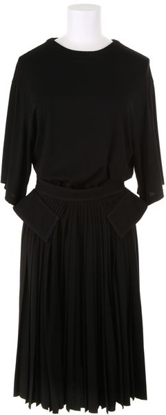 Givenchy Black Dress in A Light Jersey Blend Of Viscose and Silk - Lyst