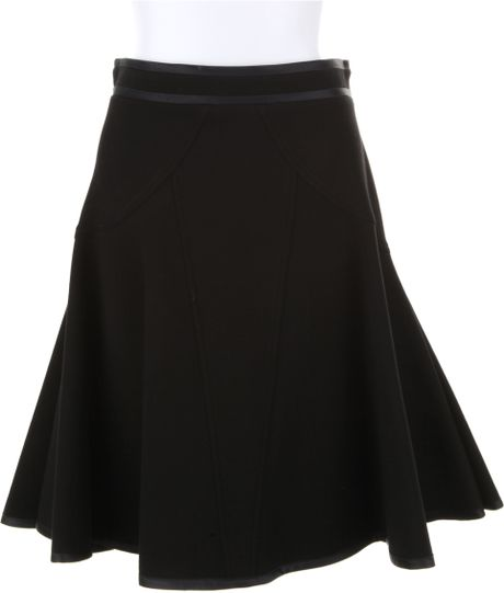 Givenchy Black Skirt in A Technic Jersey Blend Of Viscose in Black - Lyst