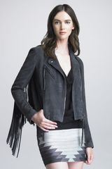 Haute Hippie Fringed Suede Motorcycle Jacket - Lyst