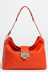 Jimmy Choo Rachel Small Grainy Calfskin Leather Shoulder Bag - Lyst