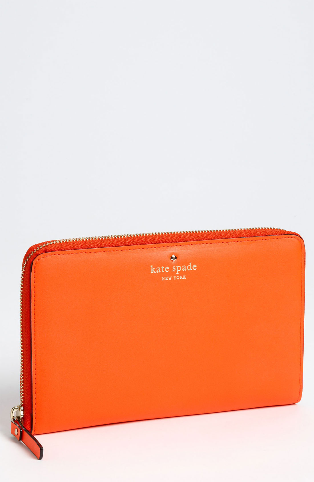 Kate Spade Brightspot Avenue Large Travel Wallet In Orange