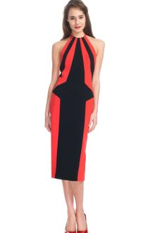 L'Wren Scott Ss Crepe Dress - Lyst