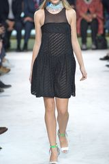 Missoni Ss Diagonal Lace Dress with Tonal Yoke in Black - Lyst