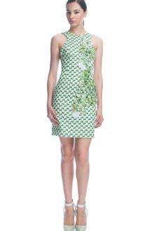 Missoni Ss Checkered Silk Sheath with Holographic Paillettes - Lyst