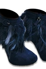 Nicholas Kirkwood Feather Boot Navy Suede in Blue (navy) - Lyst