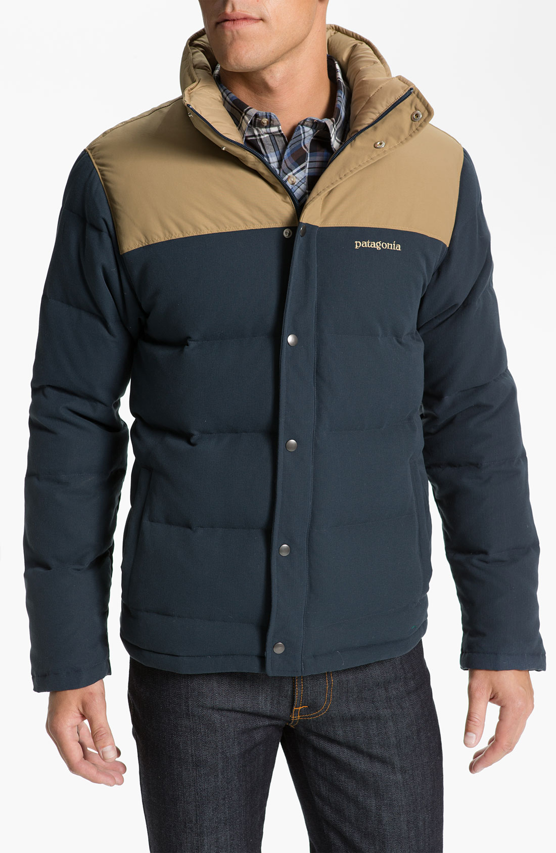 Patagonia Bivy Quilted Down Jacket In Blue For Men Lyst