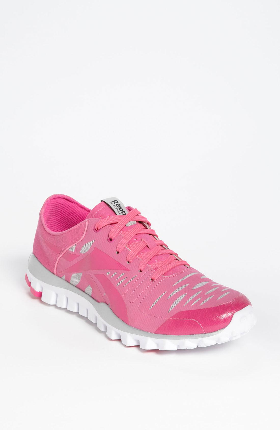 Reebok Realflex Fusion Training Shoe in Pink (pink ribbon ...