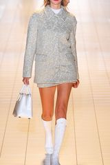Rochas Embroidered Metallic Lace Coat