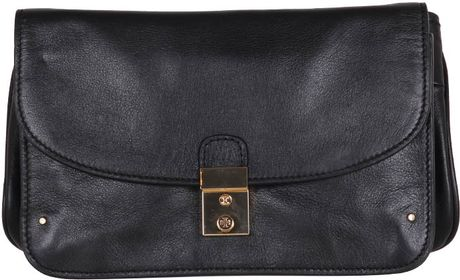 Tory Burch Clutch Priscilla in Black - Lyst