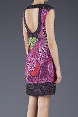 Versace Beaded Dress in Black - Lyst