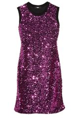 Versus  Sequined Knitted Mini Dress - Lyst