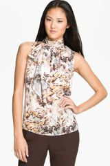 Vince Camuto Sleeveless Tie Neck Blouse - Lyst