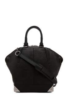 Alexander Wang Small Emile Lizard Print Tote in Black - Lyst