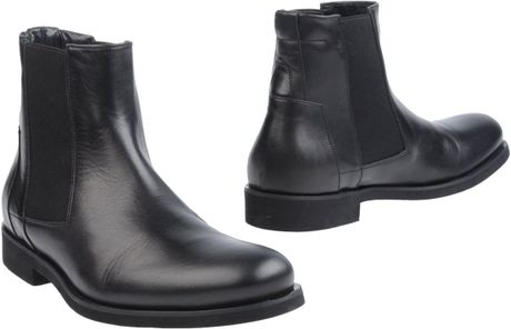 Calvin Klein Ankle Boots In Black For Men Lyst