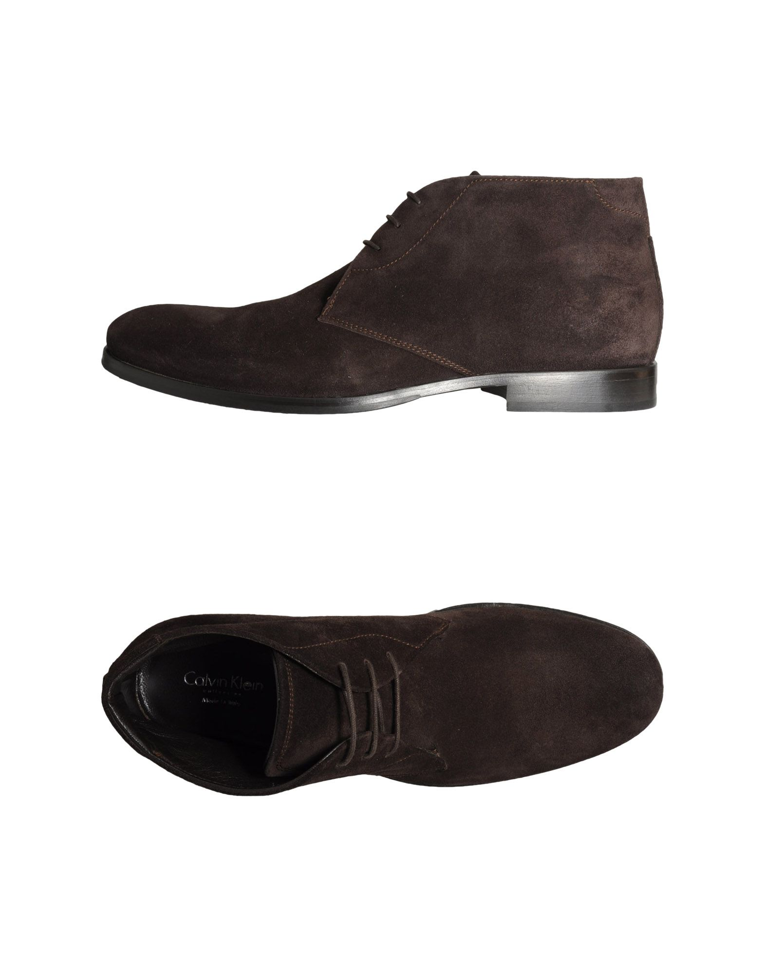 calvin klein hightop dress shoe in brown for lyst