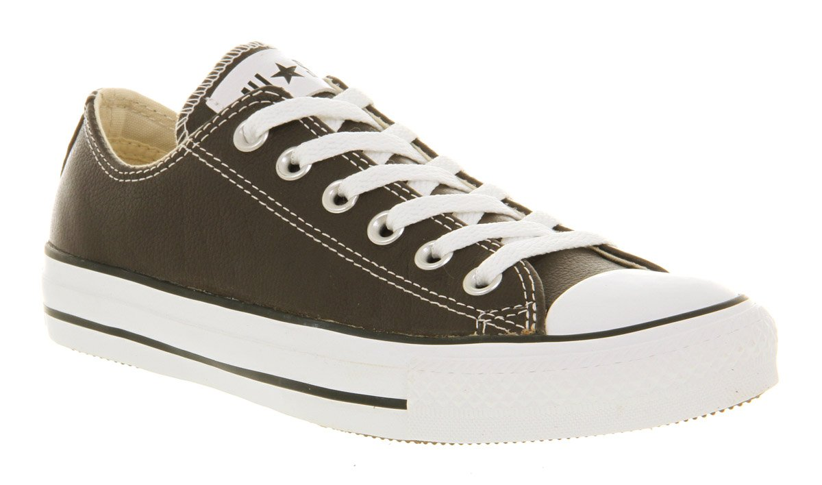 Converse All Star Leather Ox Low Brown In Brown For Men Lyst