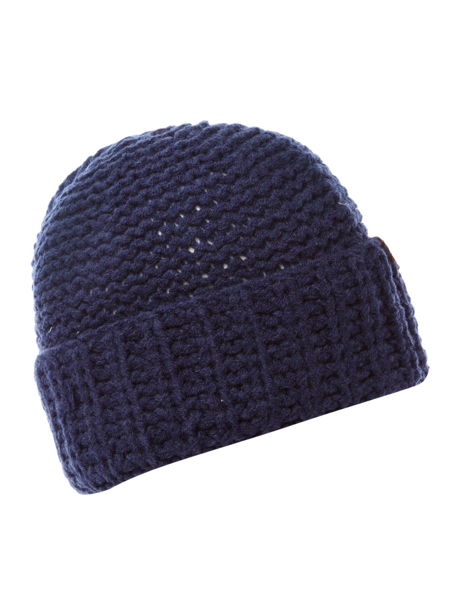 Knitting Chunky Hat : Diesel chunky knit beanie hat in blue for men navy lyst