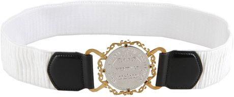 Dolce & Gabbana Belt in White - Lyst