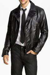 Edun Leather Moto Jacket - Lyst