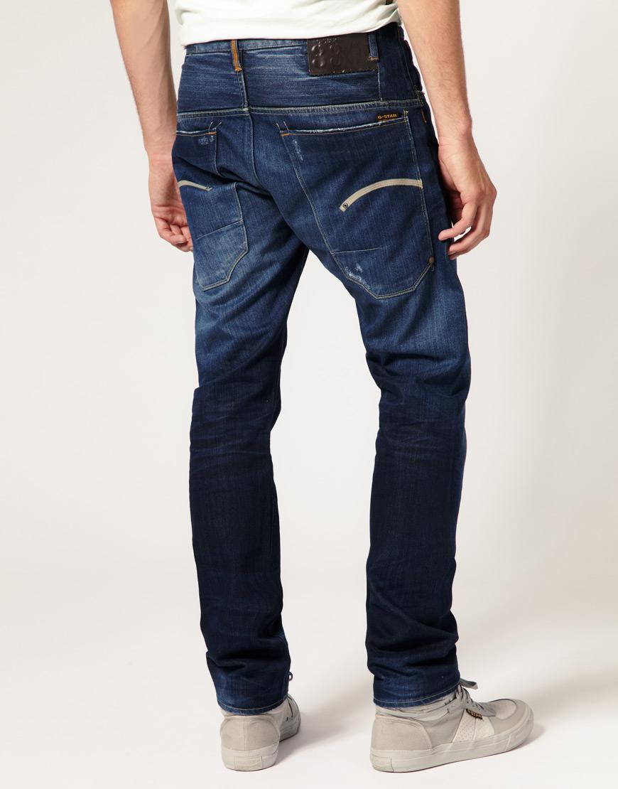 lyst g star raw structor slim dark aged jeans in blue for men. Black Bedroom Furniture Sets. Home Design Ideas