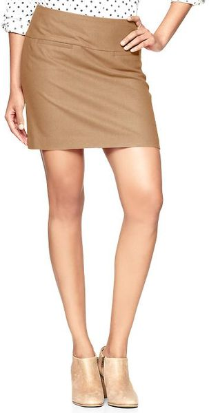 Gap Wool Mini Skirt - Lyst