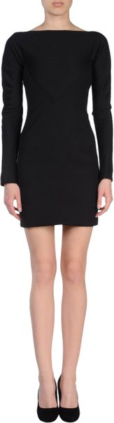 Gareth Pugh Short Dress in Black - Lyst