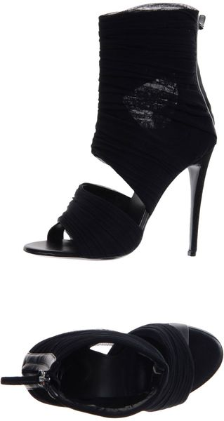 Giuseppe Zanotti High Heeled Sandals in Black - Lyst