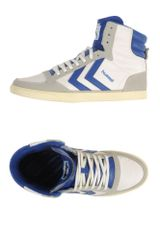 Hummel Hightop Trainers - Lyst