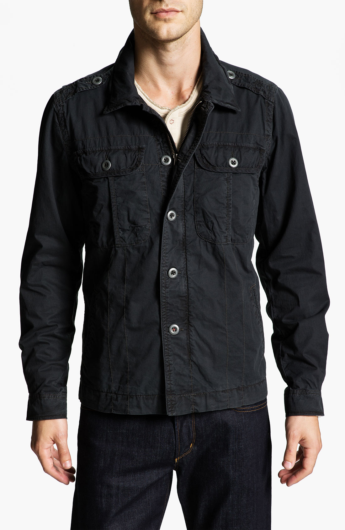 jeremiah twill jacket in black for lyst