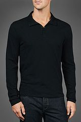 John Varvatos Convertible Collar Polo - Lyst