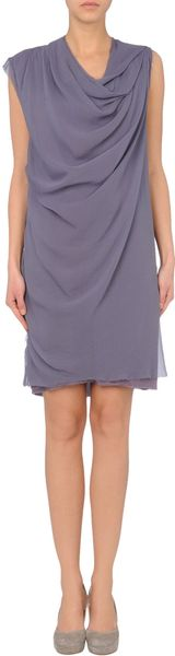 Lanvin Short Dress in Purple - Lyst