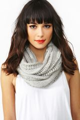 Nasty Gal Shredded Infinity Scarf - Lyst