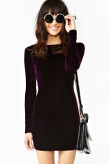 Nasty Gal Showgirls Velvet Dress - Lyst