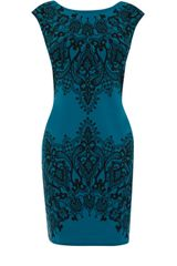 Oasis Scuba Lace Print Dress - Lyst