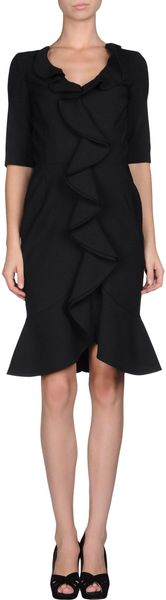 Oscar de la Renta Short Dress - Lyst