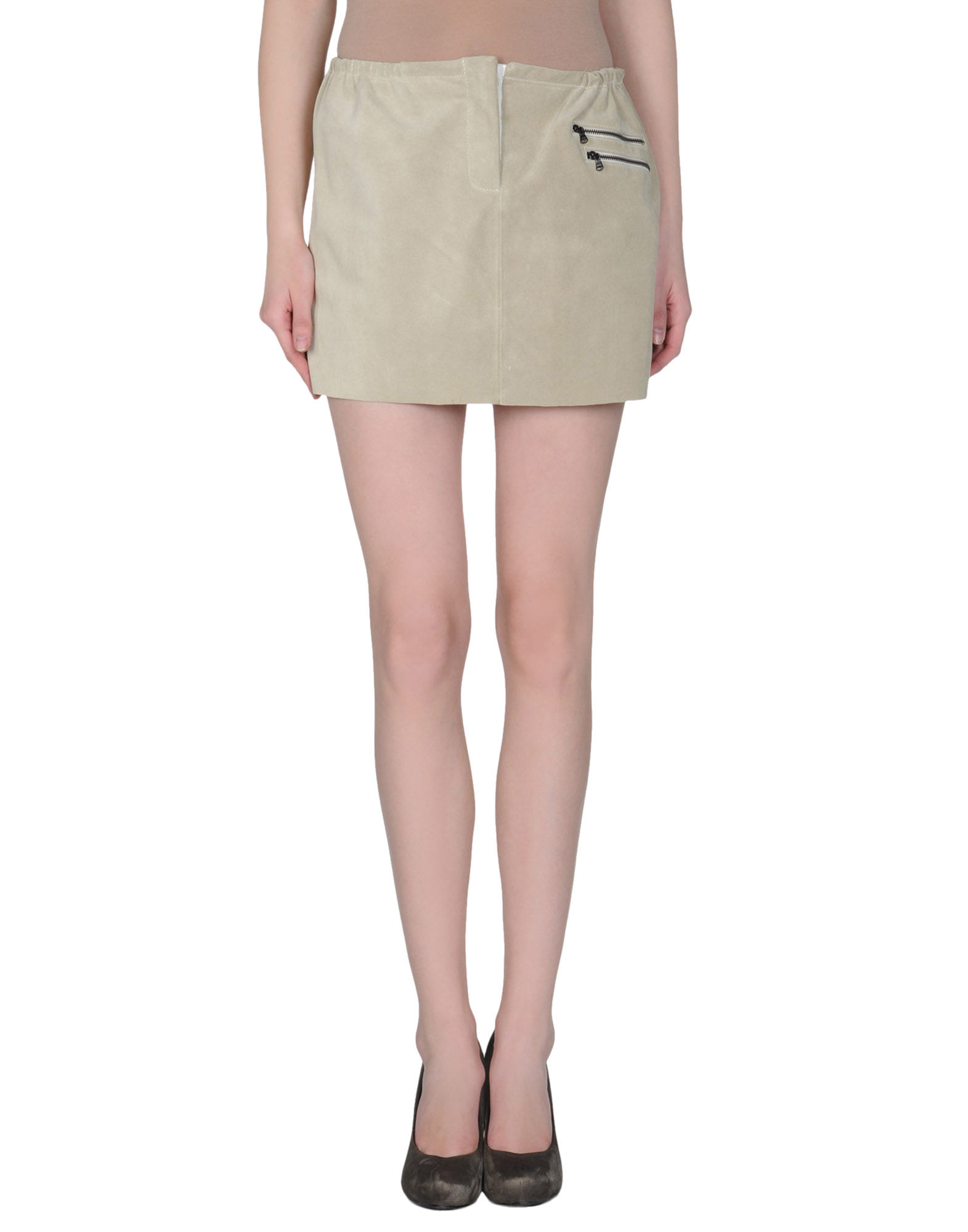 sea leather skirt in khaki lyst