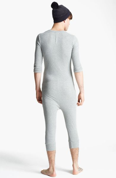 Topman Waffle Knit Union Suit In Gray For Men Grey Lyst