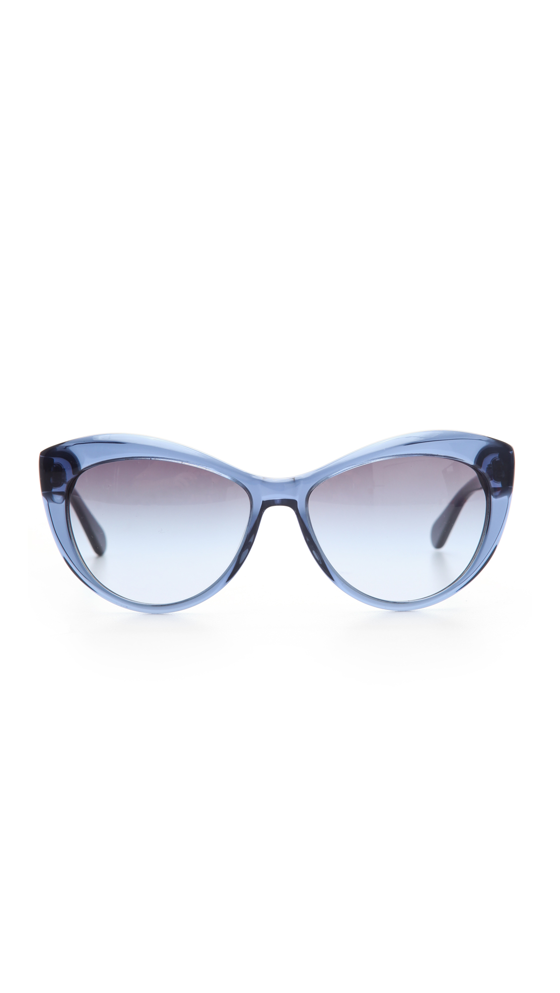 Lyst Tory Burch Oversized Cat Eye Sunglasses In Blue