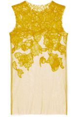 Vera Wang Ss Chantilly Lace Tank in Chartreuse in Yellow (chartreuse) - Lyst