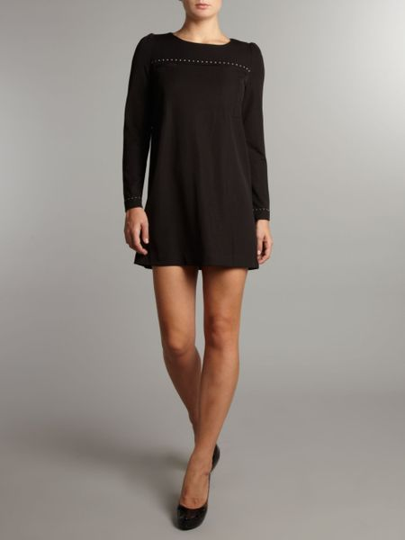 Plain Tunic Dress Tunic Dress in Black