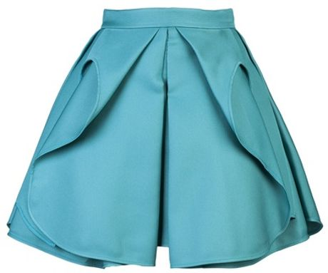 Antonio Berardi Pleated Skirt in Blue