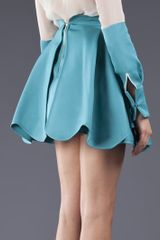 Antonio Berardi Pleated Skirt in Blue - Lyst
