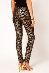 Asos Skinny Jeans in Metallic Baroque Print in Multicolor (multi) - Lyst