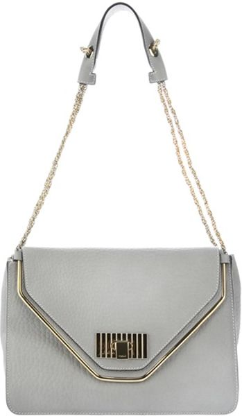 Chloé Chain Bag in Gray (grey) - Lyst