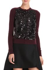 Diane Von Furstenberg Maryse Cardigan in Red (black) - Lyst